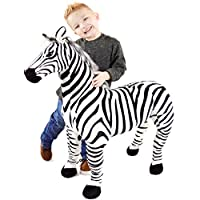 VIAHART Zelassie The Zebra | 3 Foot Big Stuffed Animal Plush Zebra Horse Pony | Shipping from Texas | by Tiger Tale Toys