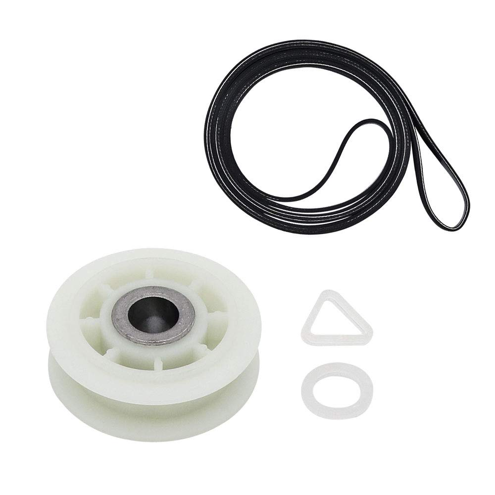 AMI PARTS 661570 Dryer Drum Belt and 279640 Dryer Idler Pulley Wheel Replacement Part Compatible with Kenmore Whirlpool Maytag Dryer Washer Dryer Combo