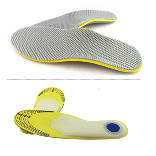 Comfort Orthotic Arch Support Pad Insoles for Sport Shoes and Work Boots Relief for Foot Pain Due to Flat Feet and Plantar Fasciitis / Heel Arch Support