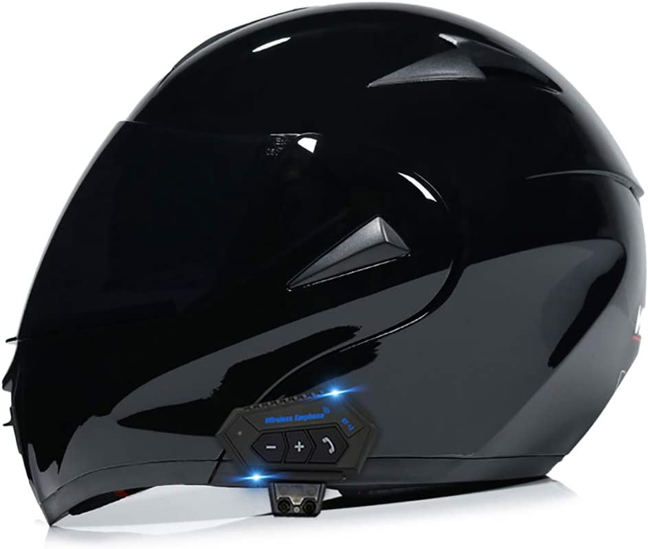 Mamao Motorrad Integrierter Bluetooth Helm Funk Sprechanlage Motorrad Klapphelm Mit Anti Fog Doppelscheib Küche Haushalt
