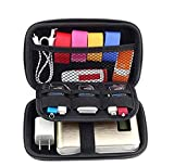 Edtoy Storage Bag Travel Set Gadget Bag Mobile Kit Case Digital Gadget Devices USB Cable Data Line Travel Insert Bag Black