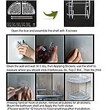 Lancher Bathroom Shelf ( No Drilling ) Durable Aluminum 2 tiers shower shelf Kitchen storage basket Adhesive Suction Corner Shelves