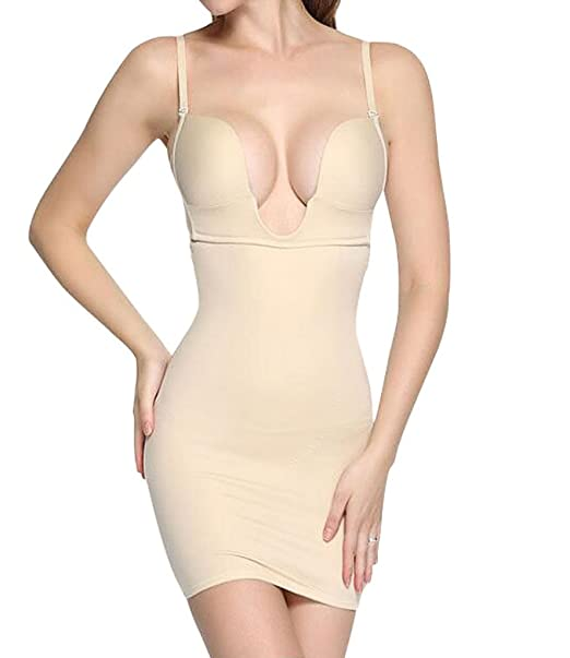 dbf46d23b7 LANFEI Women s Sexy Shapewear Firm Control Full Shaping Camis Slip Dress   Amazon.ca  Clothing   Accessories
