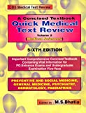 Concised Textbook Quick Medical Text Review : Medical Sciences