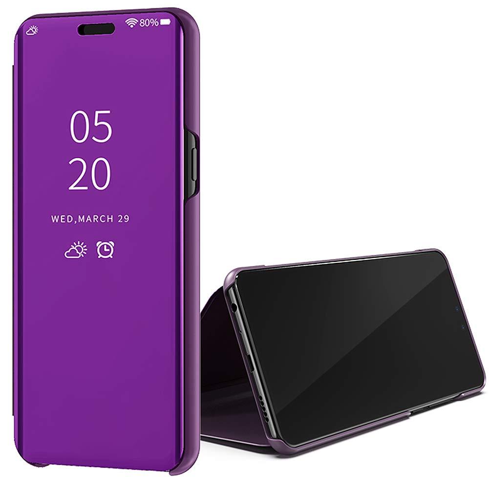 Himmelblau Huphant Kompatibel Mit Huawei Y6 2019 H/ülle Schwarz Clear View Mirror Replacement for Case Spiegel Handyh/ülle Huawei Y6 2019 Honor 8A Schutzh/ülle Leder Flip Stand Semi-transparent