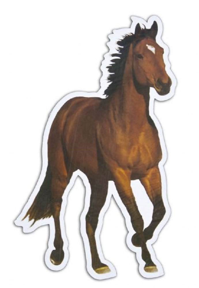 Showman Running Horse Car Truck Trailer Magnet