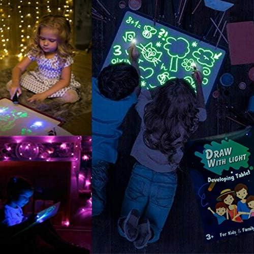 UEncounter Handwritten LED Luminous Light Drawing Board Graffiti Doodle Drawing Tablet Magic Board Draw with Light Kids Painting Fun Educational Toy