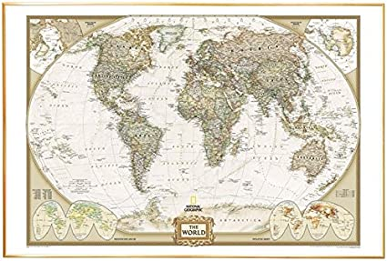 Amazon poster art house world map by national geographic push poster art house world map by national geographic push pin map mounted gold gumiabroncs Choice Image