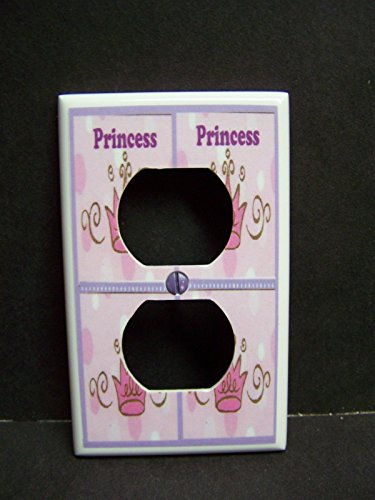 PRINCESS ROOM CROWN LIGHT SWITCH OR OUTLET COVER (1x Outlet)