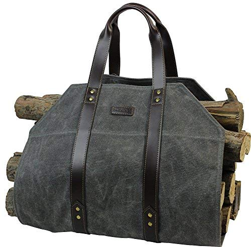 Log Carrier|Waxed Canvas Log Holder|Firewood Carrier, used for sale  Delivered anywhere in USA