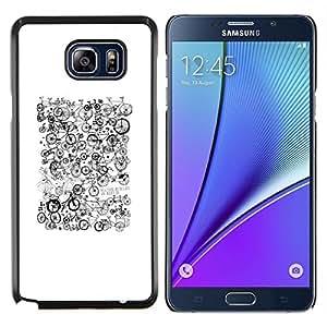 Carcasa rígida TaiTech/diseño de madera - blanco y negro de Hipster - Samsung Galaxy Note 5 5th N9200