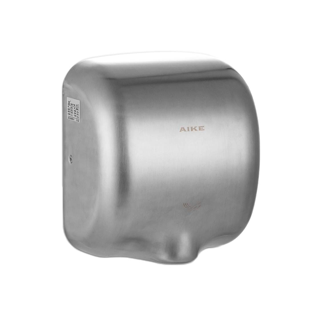 AIKE Automatic Wall Mounted High Velocity Powerful Stainless Electric Hand Dryer Commercial, 110V-120V,Simple Shell,Polished Zhejiang AIKE Appliances Co. Ltd. AK2800