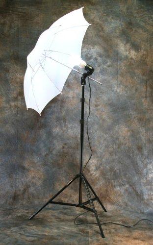 ePHoto Photography Studio Continuous Lighting Umbrella Kit + Free 45 Watts 5500k Fluorescent Photo Lamp Bulb by ePhoto INC Dk1 by ePhoto