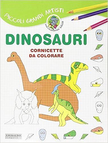 Amazonit Dinosauri Cornicette Da Colorare Libri