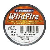 Beadalon Wildfire Thermal Bonded Beading Thread .006 Inch - Black - 50 Yd