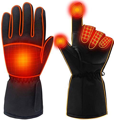 Azornic Oplaadbare verwarmde handschoenen op batterijen voor mannen en vrouwen, waterdicht, elektrisch verwarmde…