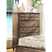 Fortuna Tall Chest in Rustic Weathered Brown