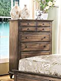 NCF Furniture Fortuna Tall Chest in Rustic Weathered Brown