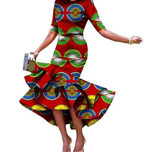 Coolred-femmes Taille Empire Africaine Bat Son Imprimé Dashiki Robes Étape Tunique 16 Xl