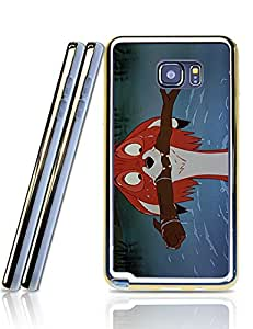 Disney Pattern The Fox And The Hound Samsung Galaxy Note 5 Funda Case Stylish 2 in 1 + Golden border Soft TPU Protective Funda Case