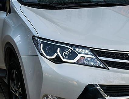Amazon Com Gowe Toyota Rav4 Headlights 2014 2015 Cob Design Led