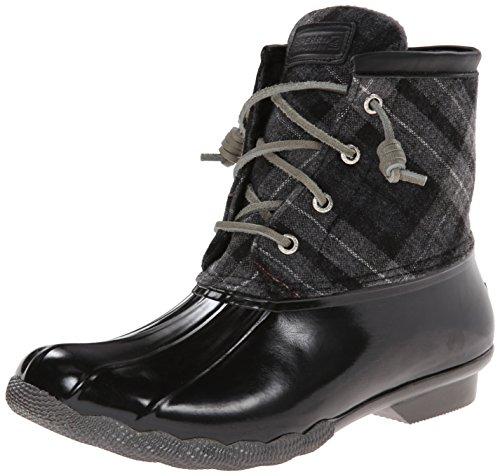 Black Sider Grey Saltwater Emboss Top Neoprene Rain Rope Plaid Sperry Womens Boot 6xgzAwFTqw