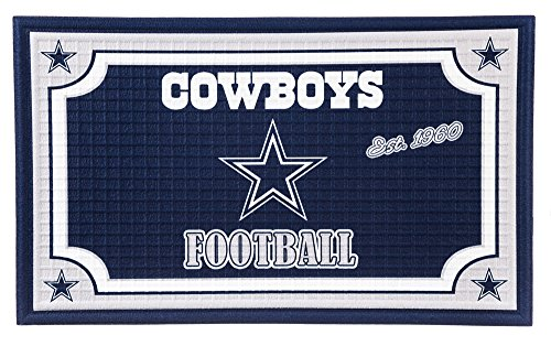 Cowboys Rug Dallas Door Mat (Team Sports America 41EM3808 Dallas Cowboys Embossed Door Mat)