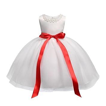 KOLY Flower Baby Girl Princess Compleanno dell Abito da Cerimonia della  Damigella d Onore 05972194b45