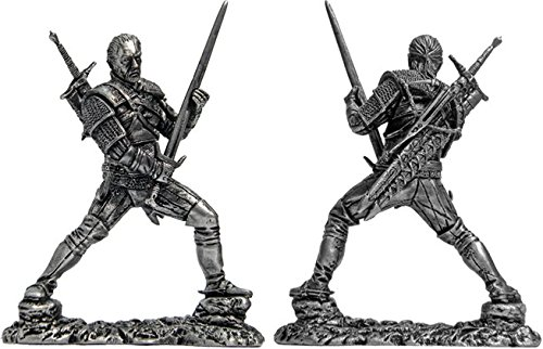 (1 Figure Witcher Tin Toy Soldiers Metal Sculpture Miniature Collection 54mm (scale 1/32))