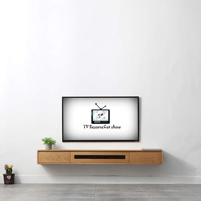 Admir Madera Flotantes TV Estanterías De Pie, Pared Consola Media Entretenimiento Estante Soporte Reproductor DVD Decodificador Router Mandos-47 * 8 * 8inch: Amazon.es: Hogar