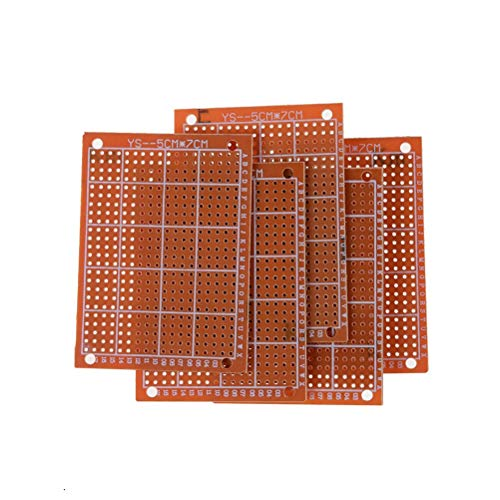 Connectors - Arrival Pcb Protoboard Circuit Board Prototype Single Side Copper Plate 10pcs 5x7cm 1.2mm - Toggle Voltmeter Male Pins Large Jumper Transparent Circuit Extra Long Optical Potentiom
