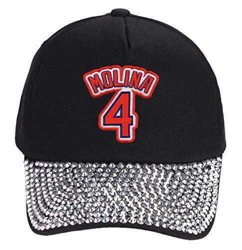 Yadier Molina Hat - Women's St Louis Baseball Jersey Number Cap (Rhinestone Studded)