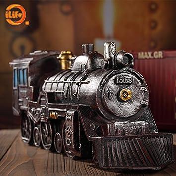 Ivintage Lokomotive Ornamente Steampunk Modell Heimtextilien Cafe