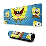 Extended Mouse Pad - Spongebob Squarepants XXL Gaming Computer Mousepad 31.5 X 11.8 X 0.12inch