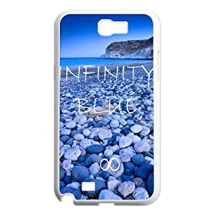 Fashion Design Custom Phone Case for Samsung Galaxy Note 2 N7100 - Infinity Blue DIY Cover Case JZQ-903961