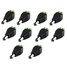 Mr.Geeker 10 Pcs Male Power Adapter DC Barrel to Screw Plug Jack Connector 2.1 x 5.5MM