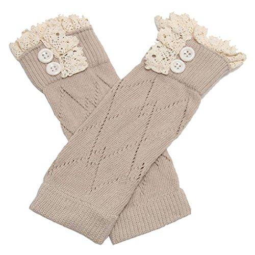 Floralby Girls Leg Warmers Boot Socks Kids Winter Knitted Crochet Socks for 3-12 ()