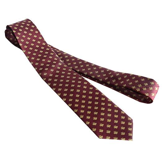 YYB-Tie Corbata Moda Corbata clásica de Seda con Estampado de ...