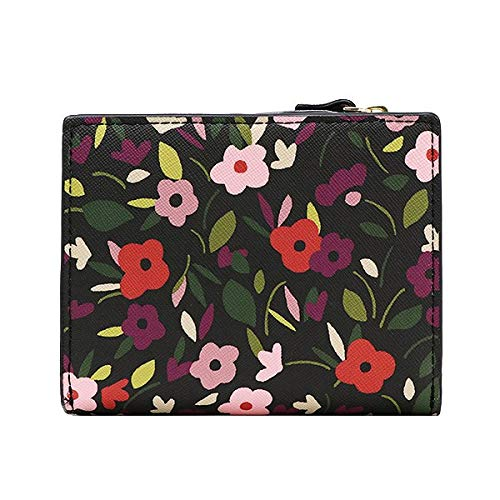 Kate Spade Shawn Laurel Way Boho Floral Saffiano Leather Wallet Blackmulti by Kate Spade New York
