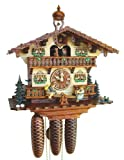 River City Clocks Eighty Day Musical Cuckoo Clock Cottage with Boy and Girl on Seesaw