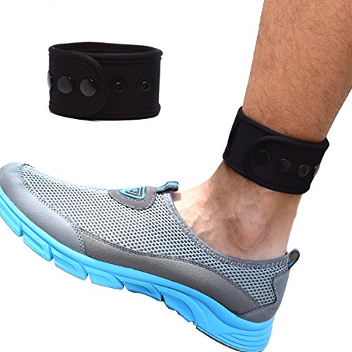 (B-Great Ankle Band for Men and Women Compatible with Fitbit Zip/Fitbit Charge 2/Fitbit Blaze/Fitbit Versa/Jawbone Up Move/Moov Now/Misfit Shine Fitness Tracker (Black, X-Large))