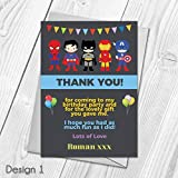 Personalised Superhero Thank You Cards | Kids Thank You Notes