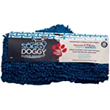 Soggy Doggy Super Shammy  Blue One Size 31-inch x 14-inch Microfiber Chenille Dog Towel with Hand Pockets