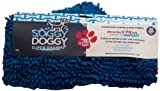 Soggy Doggy Super Shammy  Blue One Size 31-inch x 14-inch Microfiber Chenille Dog Towel with Hand Pockets, My Pet Supplies