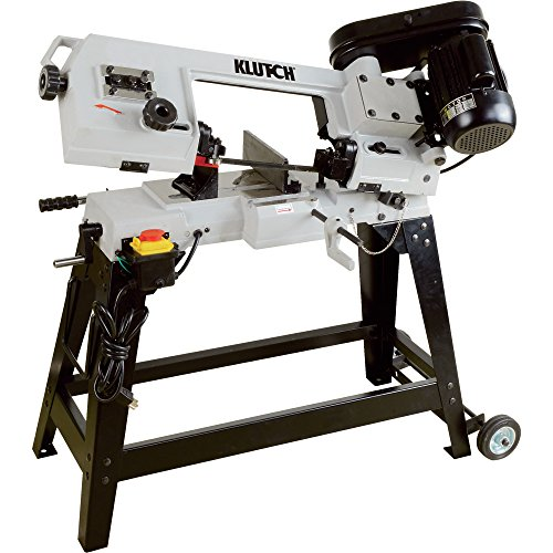 Klutch Horizontal/Vertical Metal Cutting Band Saw - 4 1/2in. x 6in., 3/4 HP, 120V Motor