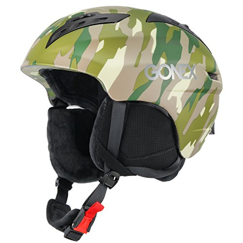 Gonex Ski Helmet Winter Snow Snowboard Skate Helmet with Safety Certification for Men, Women & Young Size L Adjustable 58-61cm Matte Camouflage