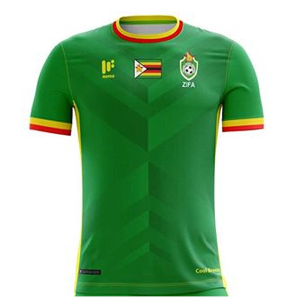 2017-2018 Zimbabwe Home Football Shirt B074WLCLCZGreen Large Adults