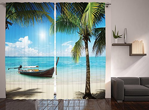 Coconut Palms Decor Collection Small Fishing Boat in