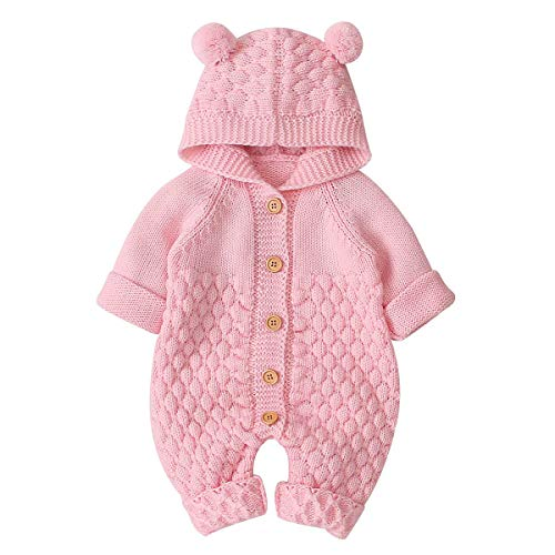 VICROAD Baby Rompers Knitted Onesies Boys Girls Sleeveless Jumpsuit Outfits