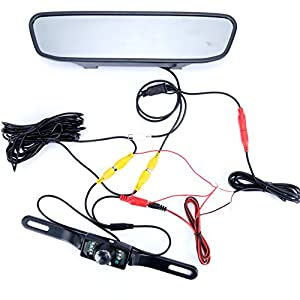 LED waterproof backup rear review camera & 4.3inch TFT LCD rear view Parking Monitor Assembly